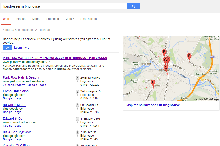 Search Engine Optimisation for Local Businesses West Yorkshire, UK