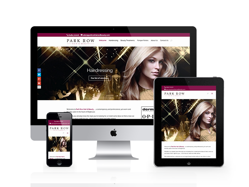 Park Row Hair & Beauty Responsive Design Website by Customology