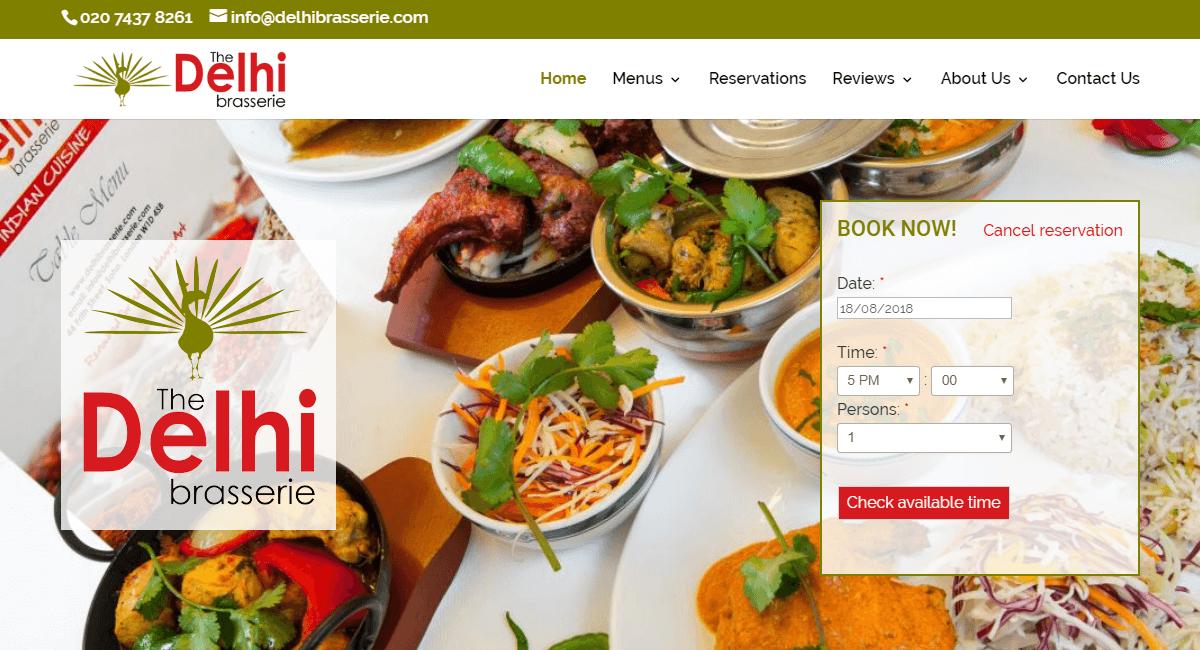 Delhi Brasserie Indian Restaurant London