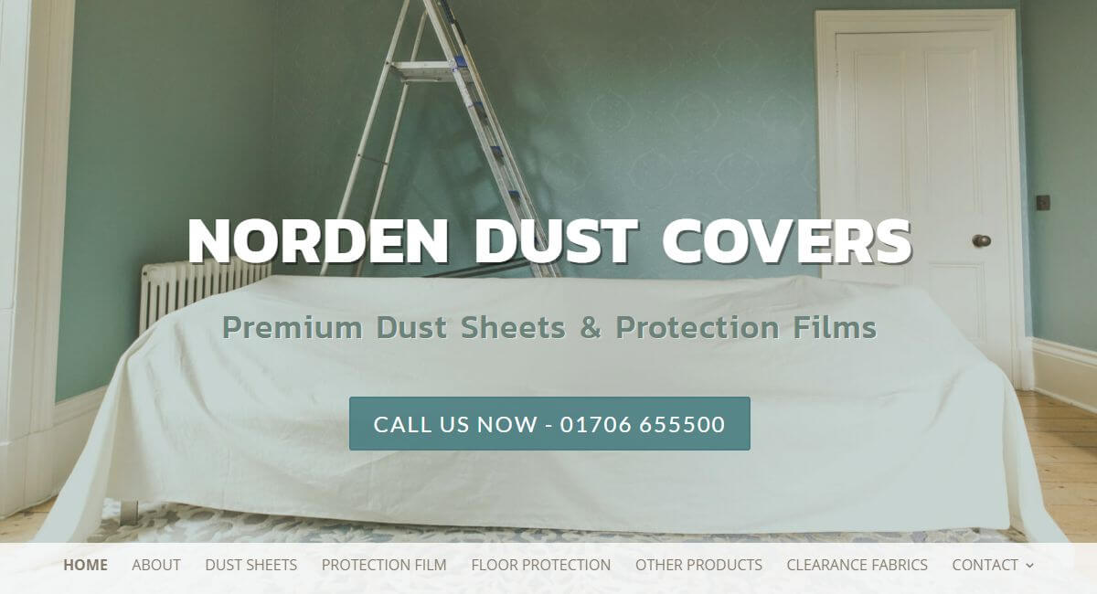 Norden Dust Covers Website By Customology