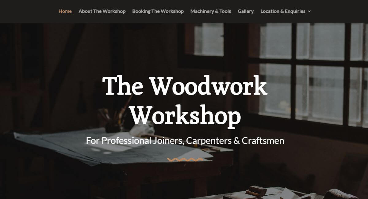 Woodwork Workshop Website By Customology