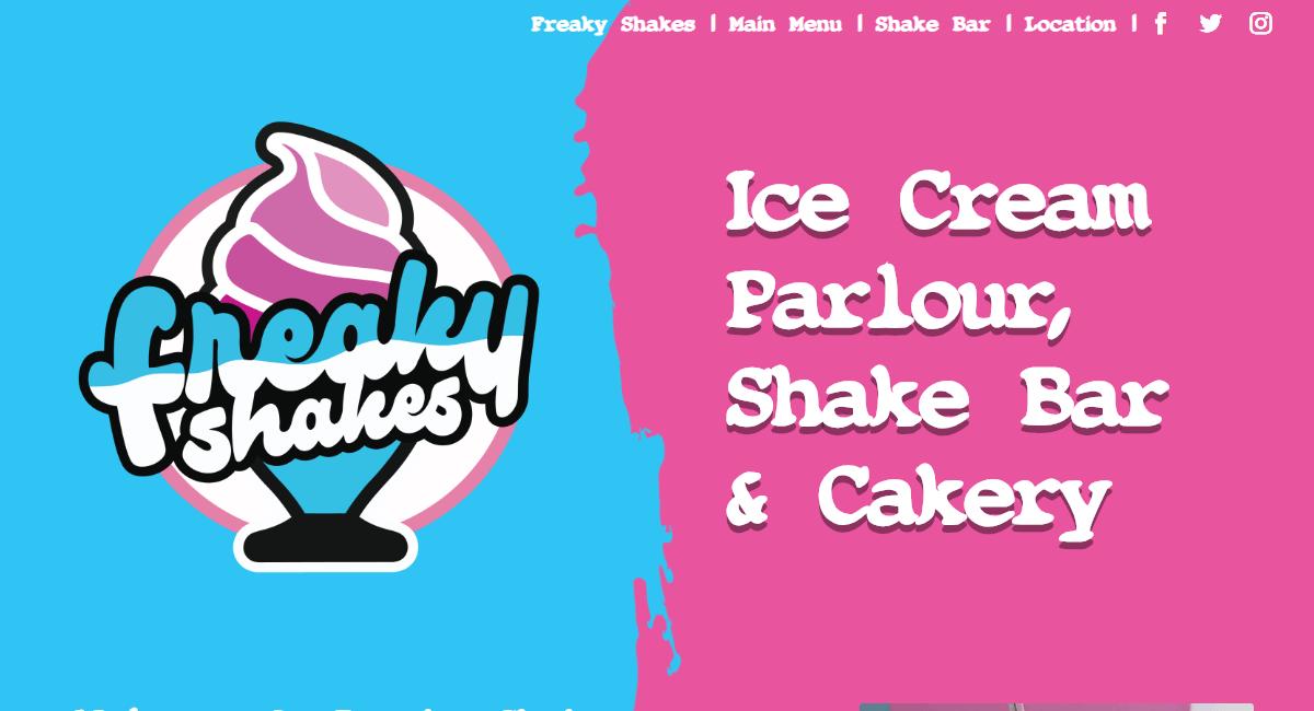 Freaky Shakes Website By Customology