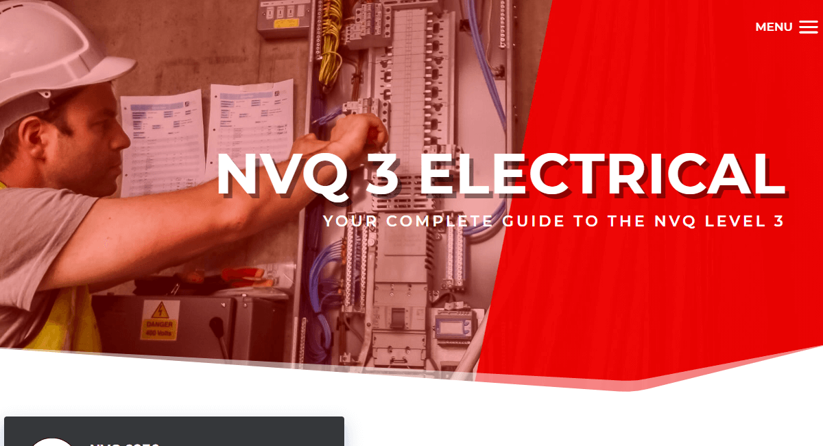 NVQ 3 Electrical Website By Customology
